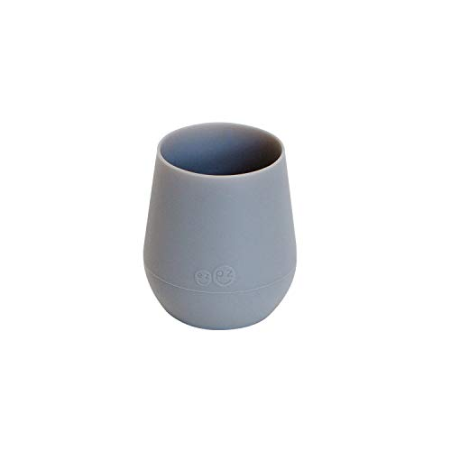 ezpz Tiny Cup (Gray) - 100% Silicone Training Cup for Infants - Designed by a Pediatric Feeding Specialist - 4 Months+