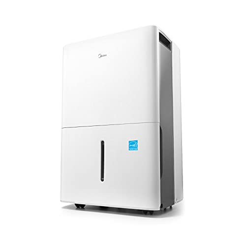 Midea 1,500 Sq. Ft. Energy Star Certified Dehumidifier with Reusable Air Filter 22 Pint 2019 DOE (Previously 30 Pint) - Ideal For Basements, Medium to Large Rooms and Bathrooms (White)