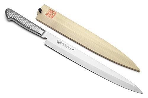 Yoshihiro Hayate Inox Aus-8 Yanagi Sushi Sashimi Japanese Chef Knife Integrated Stainless Handle (9.5'' (240mm))