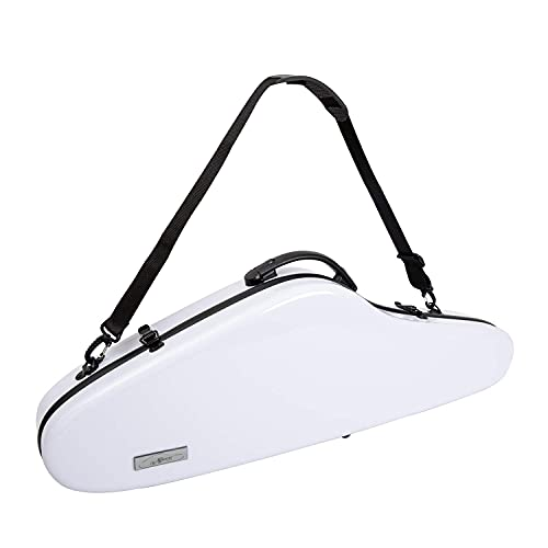 Aileen Violin Hard Case 4/4 Full Size Luxury with Hygrometer Suspension, White