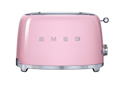 Smeg TSF01PKUS 50's Retro Style Aesthetic 2 Slice Toaster, Pink