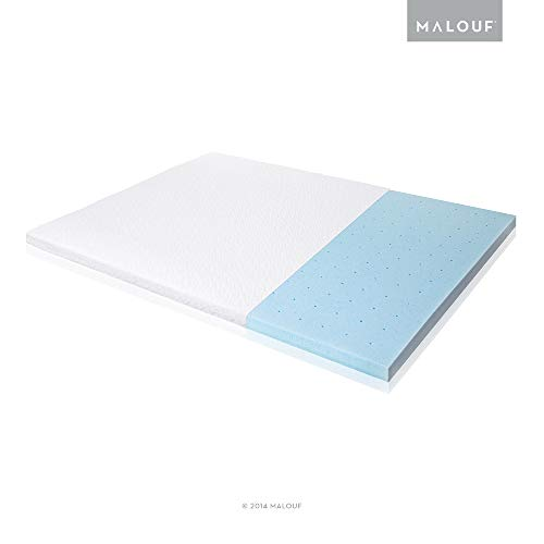 ISOLUS 2.5 Inch Ventilated Gel Memory Foam Mattress Topper - Cal King