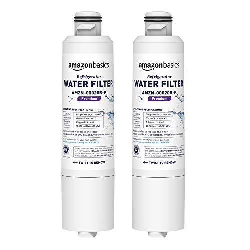 Amazon Basics Replacement Samsung DA29-00020B Refrigerator Water Filter Cartridge - Pack of 2, Premium Filtration