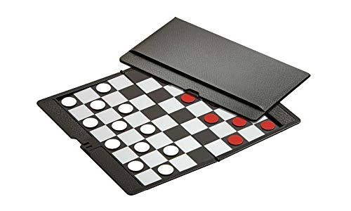 Checkers / Draughts Game Set - Mini Magnetic Travel Set - Simple Funny Family, Party Board Game