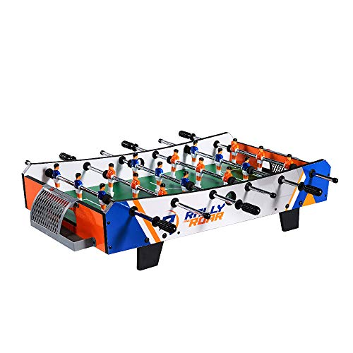 Rally and Roar Tabletop Foosball Mini Soccer Game, 2 Balls, 6 Player Rows, and Built In Scoreboard