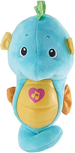 Fisher-Price Soothe & Glow Seahorse, Blue, Plush Musical Toy for Baby from Birth and Up