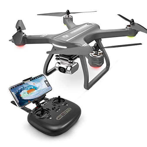 Holy Stone HS700D 2K Drone with FHD Camera FPV Live Video for Adults, GPS RC Quadcopter with Brushless Motor, 5G Transmission, Auto Return Home, Long Flight Time, Advanced Selfie for Beginners, Gray