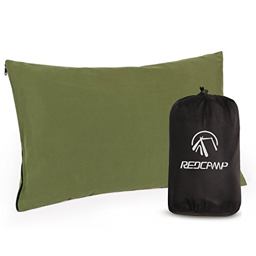 REDCAMP Small Camping Pillows for Sleeping, Cotton Ultralight Compressible Camp Pillow for Backpacking Hiking Outdoor Traveling
