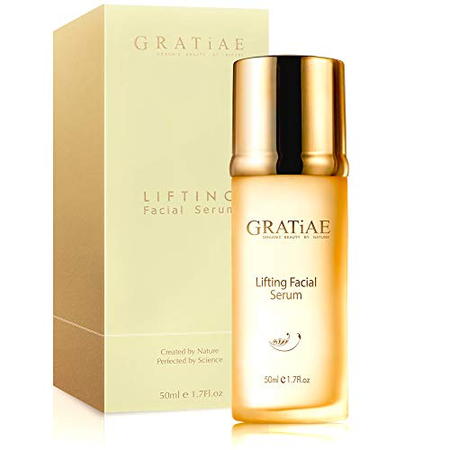 Gratiae organic lifting facial serum, Vitamin C serum, skin care, vitamin E oil, retinol, anti aging serum, face moisturizer, vitamin C serum for face, 1.7 Fl.oz