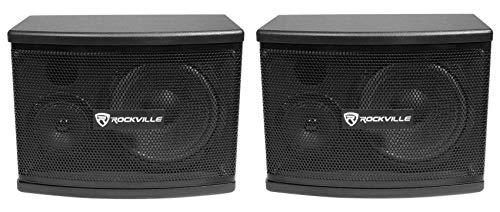 Rockville Pair KPS65 2-Way 400 Watt Karaoke Speakers+Wall Brackets/MDF, Black, 6.5'