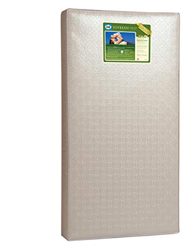 Sealy Soybean Foam%2DCore Crib Mattress, Gold, 51.63 x 27.25 x 5