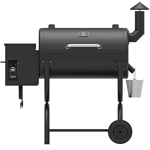 Z GRILLS ZPG-550B 2020 Upgrade Wood Pellet Grill & Smoker 8 in 1 BBQ Grill Auto Temperature Control, Cooking Area, 550 sq in Black