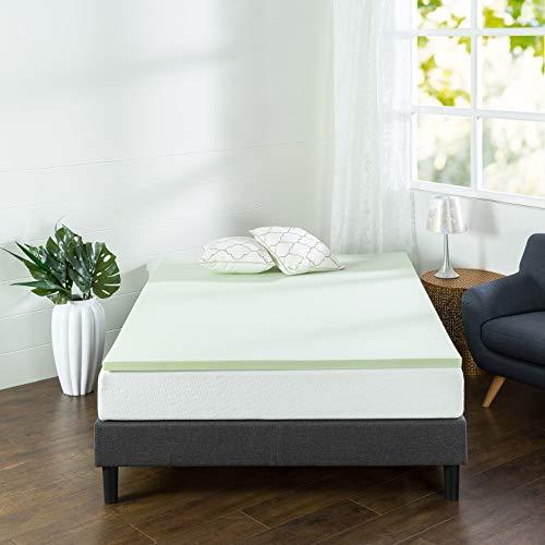 Zinus 1.5 Inch Green Tea Memory Foam Mattress Topper / Green Tea & Charcoal Infused for Freshness / CertiPUR-US Certified, Full