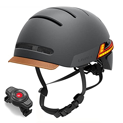 LIVALL Smart Bike Helmet with Turn Signal Tail Lights and Warning Lights, Bluetooth Connection for Music and One-Touch Phone Calls, Ultra-Light Comfortable Adult Cycling Helmet, BH51M