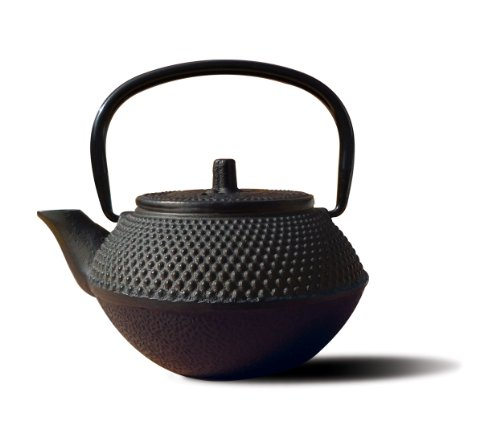 Old Dutch Cast Iron Saga Teapot, 11-Ounce, Black