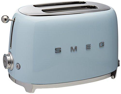 Smeg TSF01PBUS 50's Retro Style Aesthetic 2 Slice Toaster, Pastel Blue