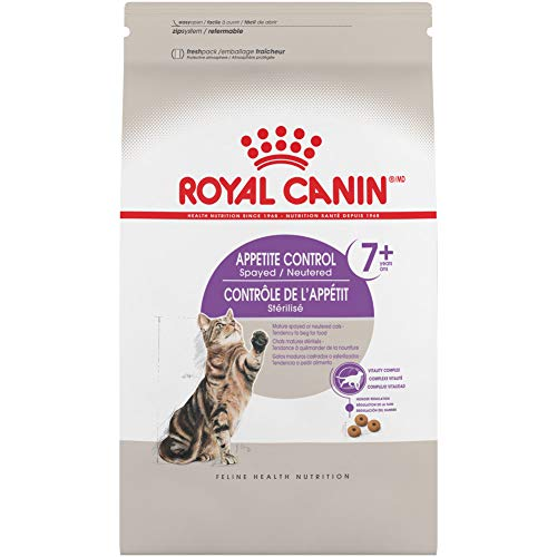 Royal Canin Appetite Control Spayed/Neutered 7+ Dry Adult Cat Food, 6 lb. bag