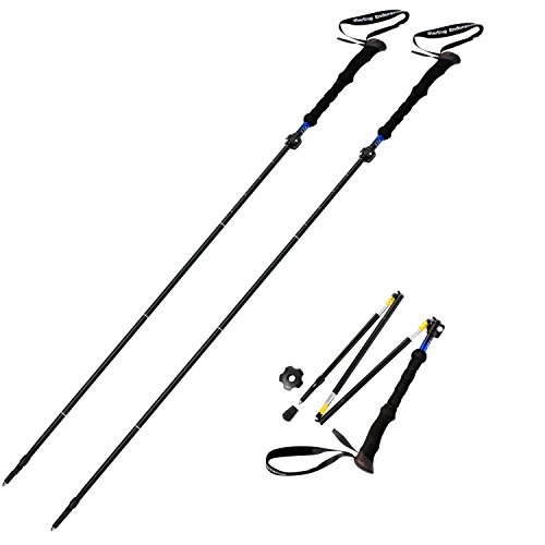 Sterling Endurance Trekking Poles/Collapsible to 13 1/2' / Hiking Poles Walking Sticks (Buy 1 Pole or 2 Poles)