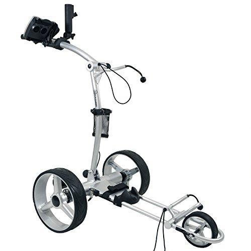 NovaCaddy Remote Control Electric Golf Trolley Cart, X9RD, Silve, 12V Lithium Battery