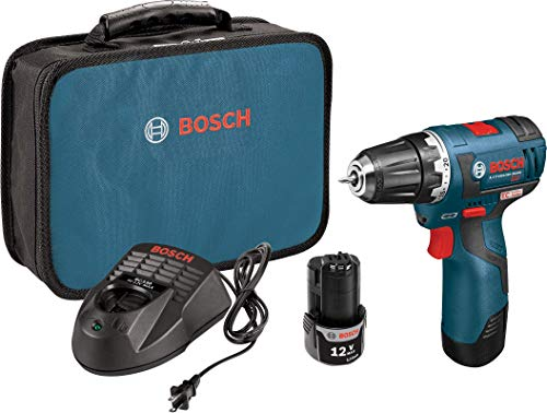 Bosch PS32-02 Cordless Drill Driver - 12V Brushless Compact Drill with 2 Lithium Ion Batteries, Charger & Soft Carrying Case