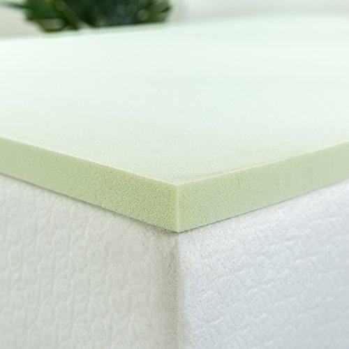 ZINUS 1.5 Inch Green Tea Memory Foam Mattress Topper / Pressure-Relieving Layers / CertiPUR-US Certified, Full