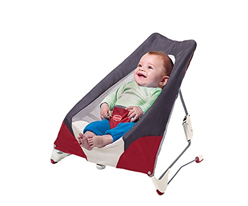 Tiny Love Take Along Baby Bouncer, Grey/Red