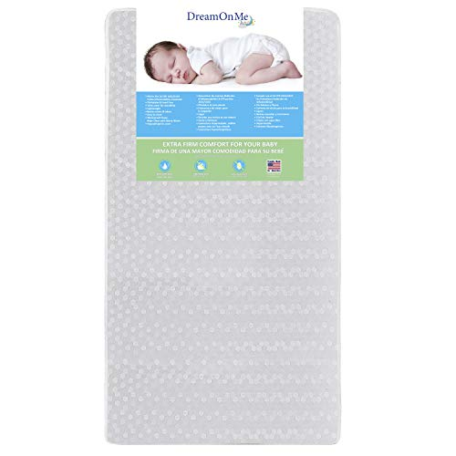 Dream On Me, Orthopedic Firm Foam Standard Crib Mattress, White, Full (5E5WL)