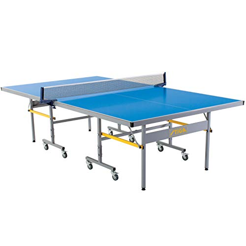 STIGA Vapor Indoor/Outdoor Table Tennis Table with QuickPlay Design - 95% Preassembled Out of The Box with Aluminum Composite Top for All-Weather Performance