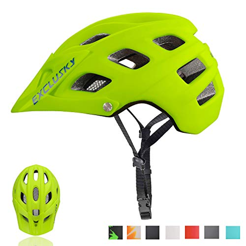 Exclusky Mountain Bike Helmet MTB Bicycle Cycling Helmets with Sun Visor for Adult Women and Men CPSC Certified