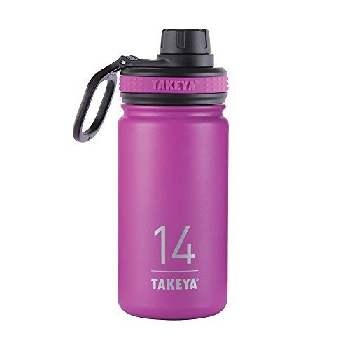 Takeya Originals Vacuum-Insulated Stainless-Steel Water Bottle, 14oz, Orchid