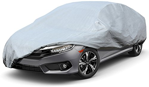 Leader Accessories Xtreme guard 5 Layers Waterproof Breathable Outdoor Indoor Car Cover (Cars up to 19'0'(228'))