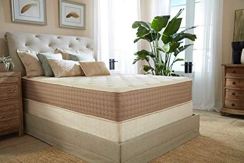 Eco Terra 11 Inch Cal King Natural Latex Hybrid Medium w/Encased Coil Springs Mattress, White