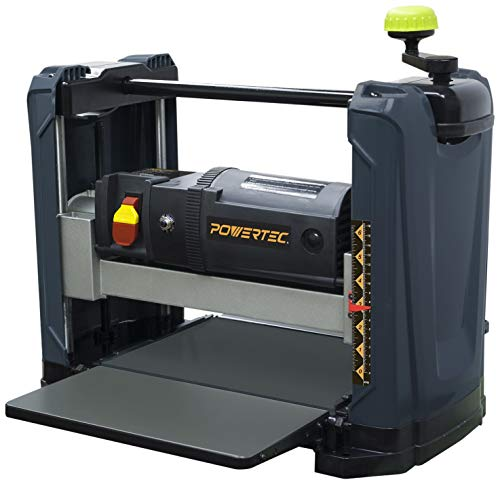 POWERTEC PL1251 15 Amp 2-Blade Benchtop Thickness Planer For Woodworking, 12-1/2' Portable