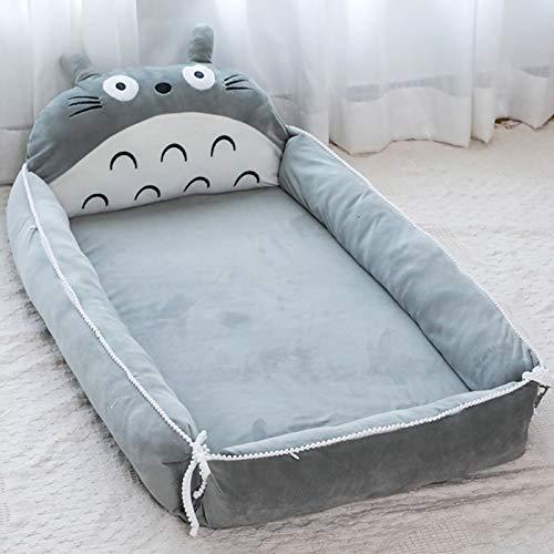 VIVITG Cartoon Totoro Baby Bed Stuffed Sofa Infant Chair Plush Cute Anime Sofa Bed, for Kids Baby Play Mat Floor Mat, 906035cm