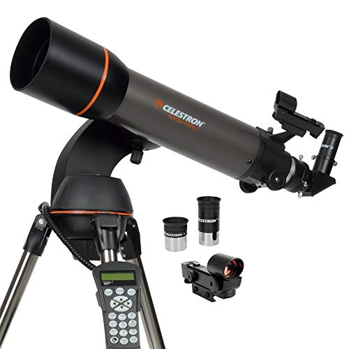 Celestron - NexStar 102SLT Computerized Telescope - Compact and Portable – Refractor Optical Design - SkyAlign Technology - Computerized Hand Control - 102mm Aperture