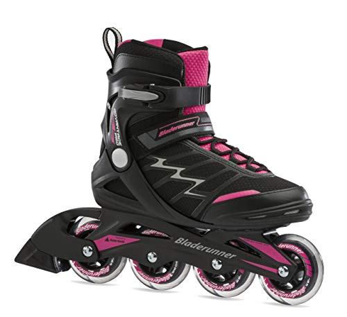 Bladerunner by Rollerblade Advantage Pro XT Women's Adult Fitness Inline Skate, Black and Pink, Inline Skates, 9