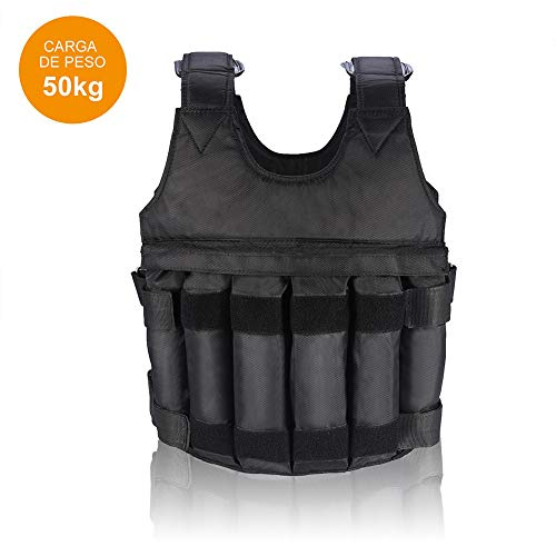 AYNEFY Weighted Vest, Professional Adjustable with Pouches Workout Weight Exercise Training Waist for Training Exercise Jogging Fitness Workouts (50kg/110lbs)