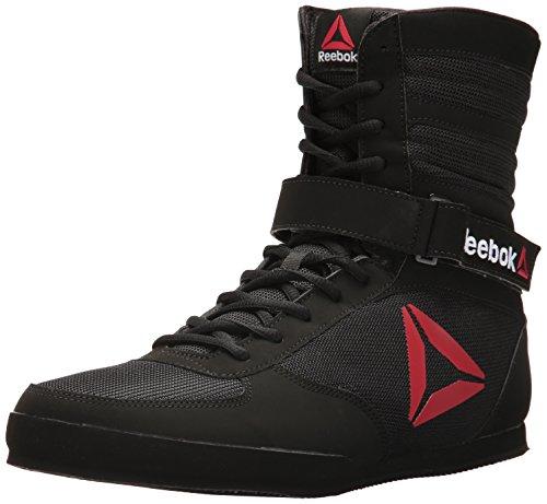 Reebok Men's Boot Boxing Shoe, Buck - Delta - Black/Black/White, 9 M US