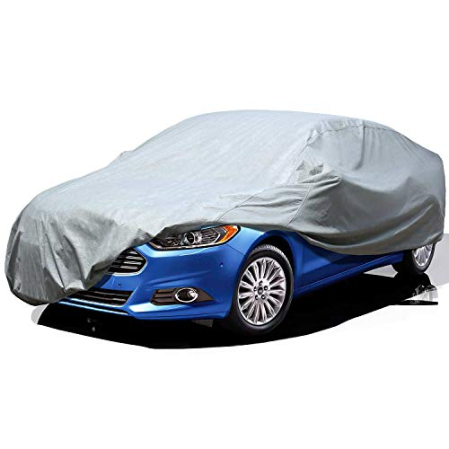 Leader Accessories Car Cover UV Protection Basic Guard 3 Layer Breathable Dust Proof Universal Fit Full Car Cover Up to 264''