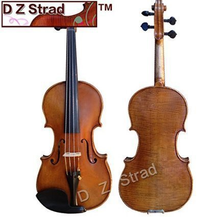 D Z Strad Violin - Model 600 - Light Antique Finish with Dominant Strings, Case, Bow and Rosin