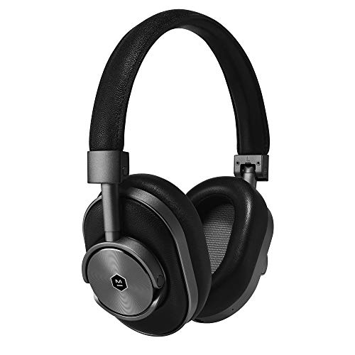 Master & Dynamic MW60G1 MW60 Wireless Bluetooth Foldable Headphones - Premium Over-The-Ear Headphones - Noise Isolating - Portable, Gunmetal/Black Leather