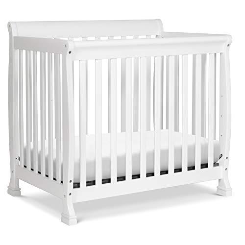 DaVinci Kalani 4-in-1 Convertible Mini Crib in White, Greenguard Gold Certified