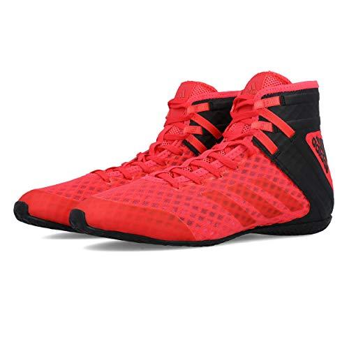 adidas Speedex 16.1 Boxing Shoes, Black/Solar Yellow, 10