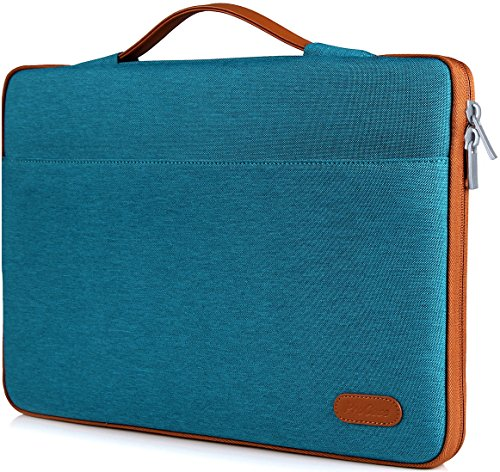 ProCase 14-15.6 Inch Laptop Sleeve Case Protective Bag, Ultrabook Notebook Carrying Case Handbag for MacBook Pro 16' / 14' 15' 15.6' Dell Lenovo HP Asus Acer Samsung Sony Chromebook Computer –Teal