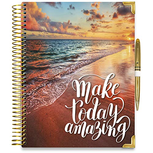 Tools4Wisdom 2021 Planner 2021 Calendar - Pro Edition - Full Color 2021 Daily Planner w/Vertical Weekly Planner Layout, Monthly Planner Tabs, Stickers (Q4Pro   8.5 x 11 Hardcover with Pen)