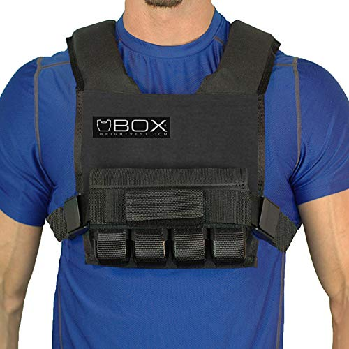 Box 20 Lb Super Short -Weight Vest (Black)