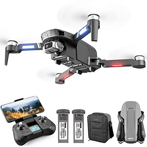 4DRC F4 GPS Drone with 4K Camera for Adults,2-Axis gimbal Anti-shake HD Camera FPV Live Video, Brushless Motor RC Quadcopter, Auto Return,Follow Me, 60 Minutes Flight Time, Carrying Case