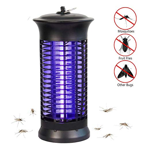 NoBug Bug Zapper Electric Indoor Insect Killer Suspensible UV Light Mosquito Killer Bug Fly Pests Attractant Trap Zapper Lamp 1000V Grid  Home Bedroom,Kitchen, Office(Black)