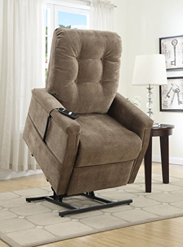 Pulaski Montreal Coffee Fabric Lift Chairs, 31.5' 37.8', Brown
