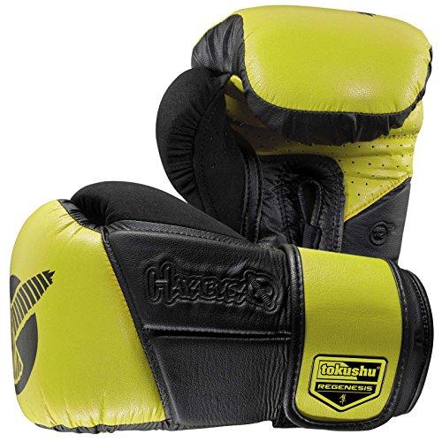 Hayabusa Fightwear Tokushu Regenesis 12oz Gloves, Black/Lime Green, 12 oz.